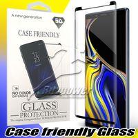 vidrio templado azul al por mayor-Para Samsung Galaxy S10 S10E Nota 9 10 Plus S9 Nota 8 Pantalla S8 Caso amistoso del protector de vidrio templado con Paquete
