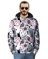 Wholesale Autumn and winter new men s large size Hoodies loose creative trend printing street hoodies men s casual jacket