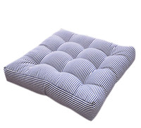 Wholesale floor cushion pads - EONSHINE Elegant Striped Fluffy Chair Pads Cushion, Polyester Filled Floor Meditation Rush Cushion for Home Office, Pack of 1
