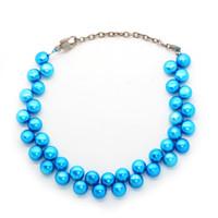 Wholesale beaded bracelets online - 2018 The latest fashion design natural freshwater pearl bracelet mm flat shape female charm jewelry