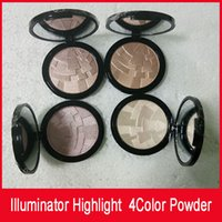 Wholesale Hill Mix - Hills Illuminator Face Powder Makeup Miner Foundation Powder Maquillaje 4color Face Bronzer Highlight Contour Setting Powder