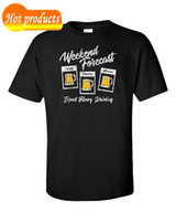 Wholesale funny t shirts for sale resale online - Hot Sale Fashion Beer T Shirt Drink Drunk Alcohol Funny Forecast Weekend Foot balls Pub Tee Gift Band Logo Tee For Men