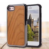 Wholesale bamboo iphone case online - High Quality Real Wood Phone Case For iPhone X for Samsung S9 Plus Nature Carved Wooden Bamboo Wood Slim Design