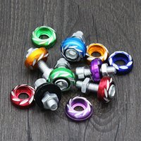 Wholesale 10PCS Electric Car License Plate Decorative Color Screws mm Carved Screws Scooters Modified Accessories Plate Screws