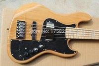 качественная натуральная гитара оптовых-Бесплатная Доставка Горячая Распродажа Высокое Качество F Marcus Miller Подпись Jazz Bass 5 Строка Натуральный Цвет Бас-Гитара В Наличии