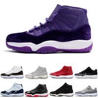 erkekler için serin basketbol ayakkabıları toptan satış-Gama Mavi Gri Soğuk 11 11s Platin Ton Midnight Navy Erkekler Basketbol Ayakkabı Spor Kırmızı Bred Kapanış Töreni spor spor ayakkabıları mens