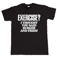 Wholesale exercise shirts for men for sale - Group buy Exercise Burger and Fries Mens Funny T Shirt Gift for Dad Christmas
