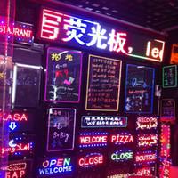 ingrosso pareti aperte-Sostegno luce LED personalizzata per insegne al neon. Open LED Sign Display. Luci lampeggianti per aziende, pareti, lampade da bar
