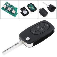 chips audi a4 al por mayor-Venta al por mayor 3 botones Keyless Uncut Flip Remote Key Fob ID48 Chip 4D0837231A para Audi A3 A4 A6 A8 modelos antiguos KEY_10K