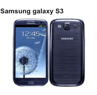 Wholesale S3 Cell Phone - Free DHL shipping Original Samsung Galaxy S3 i9300 Cell phone Quad Core 8MP Camera NFC GPS Wifi 3G Unlocked Phone Refurbished
