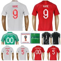 Wholesale green purple stone - 2018 World Cup 9 KANE Soccer Jersey 10 STERLING Men Football Shirt Kits 14 WELBECK 5 STONES 2 WALKER White Red Custom Name Number