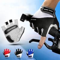 Wholesale half slip xl resale online - Shock Absorption Cycling Glove Anti Slip Wear Resistant Sports Supplies High Strength Nylon Half Finger Gloves New Arrival cf bb