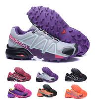 2019 Salomon Shoes zapatos hombre кроссовки для женщин Speed Cross 4 CS III sapato masculino Спидкросс Salomon Sport кроссовки 36 42