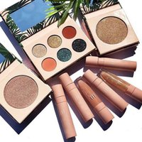 Wholesale lipstick color palette resale online - Hot Makeup Brand Set iiluvsarahii x Dose color Set eyeshadow palette highlighter Liquid Lipstick Lip Gloss Collection DHL shipping