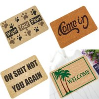 Wholesale Carpet - Door Pad Non Slip Carpet Rubbing Soil Flocked Mildew Proof Funny Natural Rubber Water Uptake Fair Felt Mat 12 99bh1 V