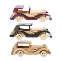 Wholesale car craft models - Retro Style Wooden Classic Model Car Toys, Solid Wood Decoration Cars Crafts Simulate Mini Automobiles Gift Wooden Car Toy
