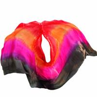 ingrosso sciarpa rossa arancione-Sciarpa di seta da donna Sciarpa di seta danza del ventre Veli di seta