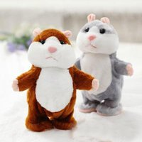 Wholesale HOT Sell Talking Hamster Talk Sound Record Repeat Hamster Stuffed Plush Animal Kids Child Toy Talking Hamster Plush Toys Christmas Gifts a