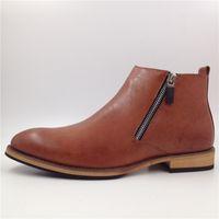 botas italianas hombres botas al por mayor-Hombres botines de moda de cuero de microfibra de invierno zapatos de hombre zapatos de calidad para los hombres italianos botines D30
