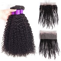 Wholesale Perstar Malaysian Kinky Curly Bundles With Closure Lace Frontal Human Hair With Frontal Natural Color Remy Hair