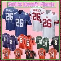 Wholesale browns throwback jerseys - 26 Saquon Barkley Jersey 14 Sam Darnold Brown 6 Baker Mayfield 17 Josh Allen 49 Tremaine Edmunds 10 Mitchell Trubisky Football Jerseys