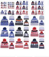 basketbol takımları beanies toptan satış-Toptan kış Beanie Örgü Şapka Spor Takımları beyzbol futbol basketbol Beanies kapaklar Kadınlar Erkekler kış sıcak şapka DHL ücretsiz gönderim