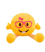 Wholesale baby day beds online - New smiley plush toys stuffed for children boys girls gift expression pillow doll baby soft plush bed toy