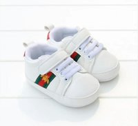 Wholesale baby moccasins shoes - 2018 hot New Romirus toddler moccasins baby shoes PU Leather first walker shoes soft sole Newborn girls boys Brand sneakers M