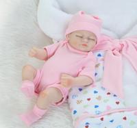 ingrosso nuove bambole reali-Nuovo neonato Full body silicone reborn baby dolls Reborn Baby Dolls fatti a mano Reborn 11 pollici Real Looking Baby Girl in silicone realistico