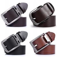 Wholesale Wide Metal Belt Silver - Soft Comfort Waistband For Men Formal Business Decor Leather Belt Metal Smooth Buckle Waist Belts Gift 9 8dn B