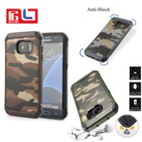 Wholesale military phone covers - 2in1 Outdoor Army Phone Case Hybrid Rugged Hard Soft Combo Military Style City Forest Camouflage Cover For iPhone 7 7 Plus Samsung S8