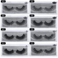 15 haarverlängerungen großhandel-Make-up 3D Nerz Wimpern Thick real Nerz HAIR falsche Wimpern natürlich für Augen Make-up Verlängerung gefälschte Wimpern falsche Wimpern 15 Modle A-Serie