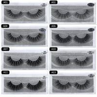ingrosso 15 estensioni dei capelli-trucco 3D Cigli di visone Spessore vero visone HAIR ciglia finte naturali per Extension trucco occhi ciglia finte false ciglia 15 Modle A series