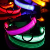 Wholesale dog collar bright light for sale - Group buy 2018 Adjuatable LED Dog Cat Pet Collar Night Light Safety Collar Bright Flashing Colorful Necklace Hot