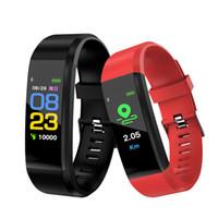 ip67 bewertung großhandel-Fitness Tracker IP67 Wasserdichte Smart Armband Schrittzähler Aktivität Pulsmesser Wecker Vibration Armband für Android IOS