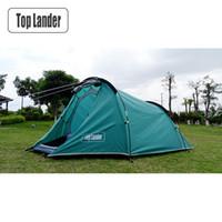 палатки один оптовых-Outdoor Tunnel Tent 4 Season One Bedroom Double Layers Tourist Waterproof Beach Tents 2 Person Hiking Camping Tent