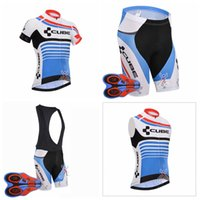 Wholesale Cube Cycling Set - CUBE Men's 2018 Hot Cycling Short Sleeves jersey bib shorts Sleeveless Vest sets The latest summer Bicycle Sportswear Mountain Bike D1907