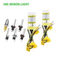 xenon h1 ampul sakladı toptan satış-2 adet H1 H4 H7 H11 9005 9006 55 W AC Hızlı Başlangıç HID Xenon Lamba Araba Ön Ampul Sis Işık 12 V 6000 K Oto Xenon Ampul