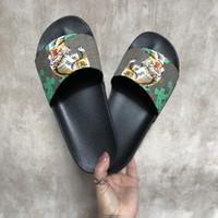 Wholesale Stylish Women Sandals - Stylish Slippers Luxury Tigers Fashion Luxury Sandals Men Women Slippers Tiger Cat Design Summer Huaraches slippers flip