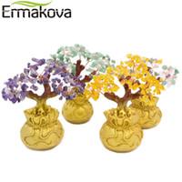 chance d'arbre achat en gros de-ERMAKOVA 6.7 pouces Grand Mini Cristal Argent Arbre Bonsaï Style Richesse Chance Feng Shui Apporter Richesse Chance Home Decor Cadeau D'anniversaire C18111701