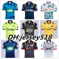 Wholesale 2018 Chiefs Super Rugby Jersey new Zealand super Chiefs Blues Hurricanes Crusaders Highlanders shirts SIZE S XL