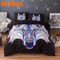 набор постельных принадлежностей для волков оптовых-Svetanya Pillowcase+Duvet Cover Bed Linens Wolf Head Print Bedding Set (no Sheet) Single Full Queen King Size