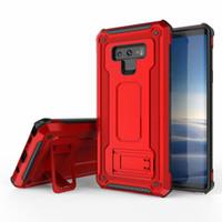 note cas magnétique achat en gros de-Kickstand Armure Etui hybride magnétique pour Samsung Galaxy Note 9 S9 S9 Plus Note8 S8 S8 + S10 Plus S10e iPhone XS 8 7