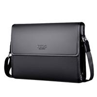 ipad s оптовых- Brand Leather Men Bag Male Messenger Bag Black Luxury Designer iPAD Shoulder Bags Large Capacity Men's Crossbody Bags
