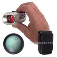 telescópios de distância venda por atacado-Portátil Digital Golf Range Finder Distância Óptica De Precisão Único Cilindro Conveniente Inteligente Telescópio Criativo Com Acolchoado Caso 63hx jj