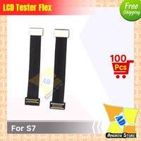 lcd ekran uzatma kablosu toptan satış-100 adet / grup Yüksek Kalite LCD Ekran Ekran Testi Dokunmatik Ekran Uzatma Test Flex Kablo Samsung S7 ücretsiz kargo