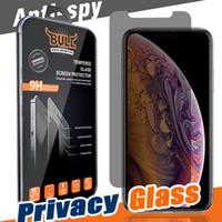 anti privatsphäre displayschutzfolie großhandel-Für Iphone XR XS MAX X 8 7 6 Privatsphäre Gehärtetem Glas Für S7 Displayschutzfolie LCD Anti-Spy Film Bildschirm Schutzabdeckung Schild für Samsung S6 / S5
