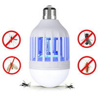Wholesale Mosquito Killer Lamp Bug Zapper Light Bulb Electronic Insect Killer Fits in E26 E27 Light Bulb Socket Mosquito Trap Night Lamp