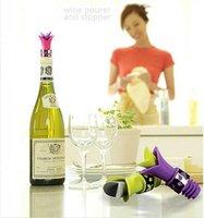silikon şarap tapası toptan satış-Gıda Sınıfı Silikon Zambak Şarap Şişesi Tıpalar Şişe Kapağı Şarap Tak Dayanıklı Şarap Pourer Anti Dökülme Araçları Mutfak Bar Aracı MMA803 120 adet
