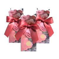 décoration de mariage achat en gros de-Nouvelle Fleur Rouge Poisson Queue De Mariage De Bonbons Boîtes De Bonbons Boîte Cadeau pour la Décoration De Mariage Cadeaux Sac Invité Party Favors Fournitures